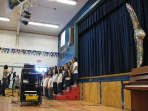 Eagle Unveiling at James Whiteside Elementary