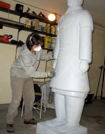 Tiana sands the Terracotta Warrior