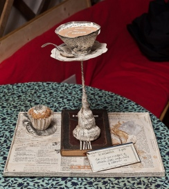 Edinburgh book sculpture Tea