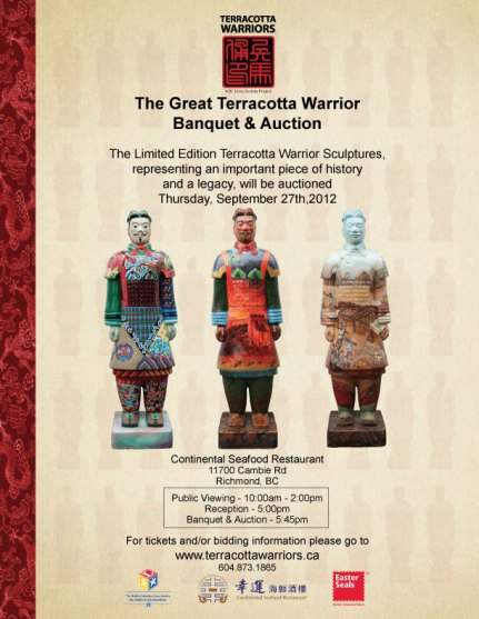 BC Lions Society Terracotta Warrior Auction and Banquet