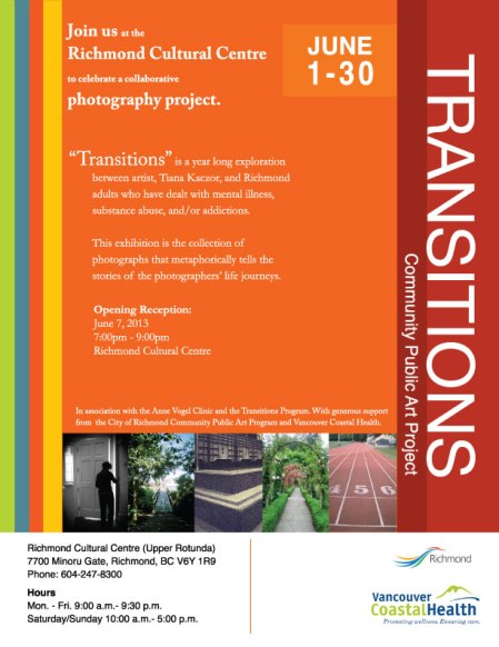 Transitions exhibition poster by Lisa Ernst